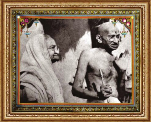 Махатма Ганди с супругой Кастурбой