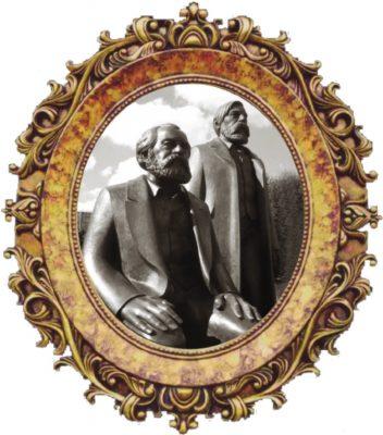 Д-р Маркс и его друг Энгельс, монумент в Берлине
